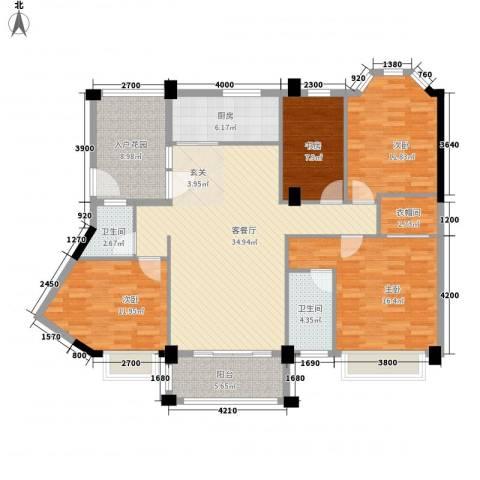 帝景蓝湾4室1厅2卫1厨141.00㎡户型图