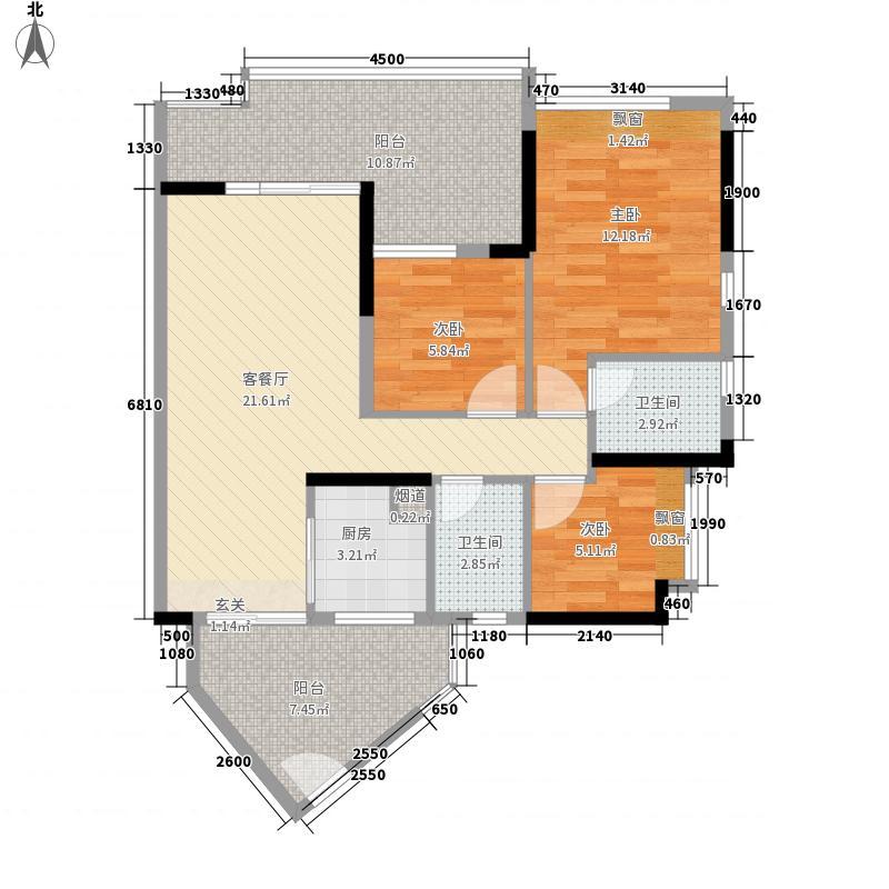 中粮万科金域蓝湾102.63㎡中粮万科金域蓝湾户型图B4-B5栋04单元3室2厅2卫户型3室2厅2卫