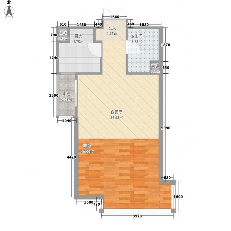 黄家路小区66.00㎡黄家路小区1室户型1室
