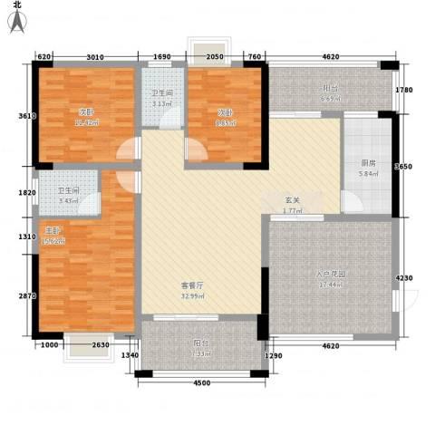 阳光城3室1厅2卫1厨112.75㎡户型图
