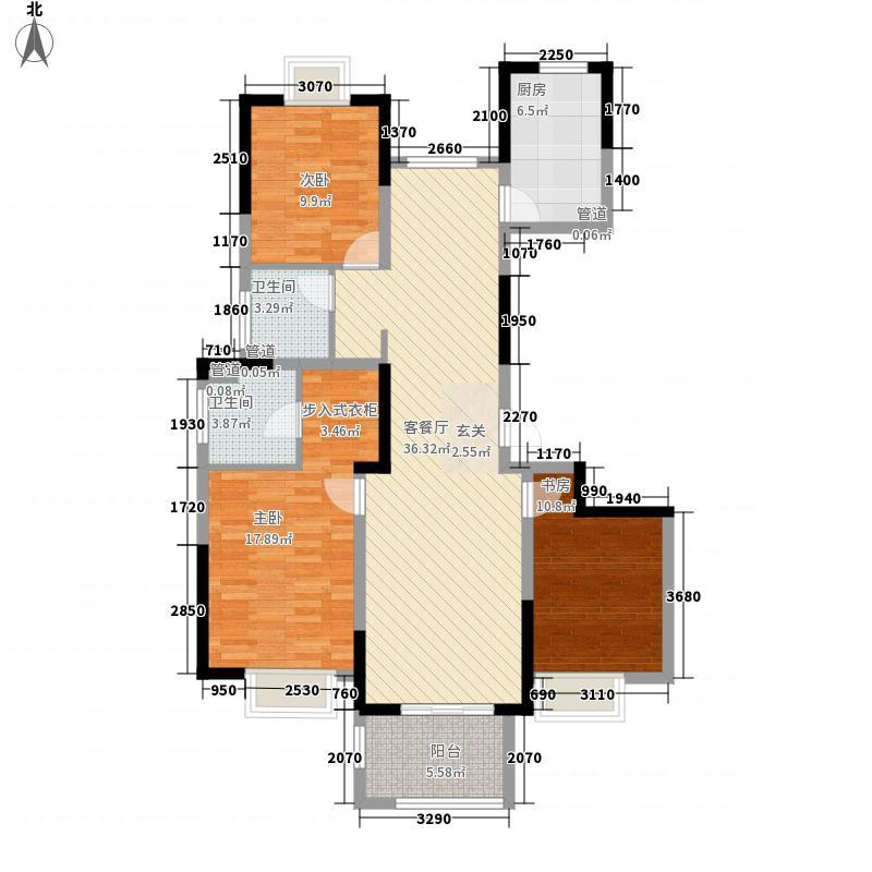 农房领峰137.00㎡B户型3室2厅2卫1厨