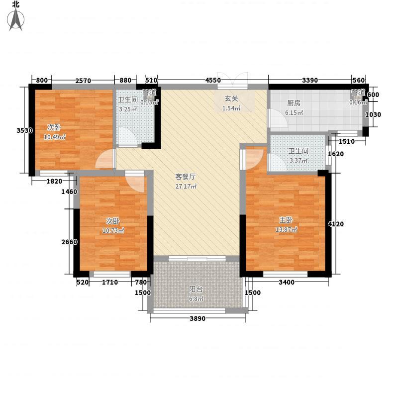 复地海上海18.00㎡6号楼A2户型3室2厅2卫1厨