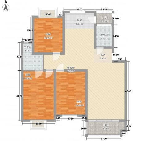梅岭东苑3室1厅2卫0厨152.00㎡户型图