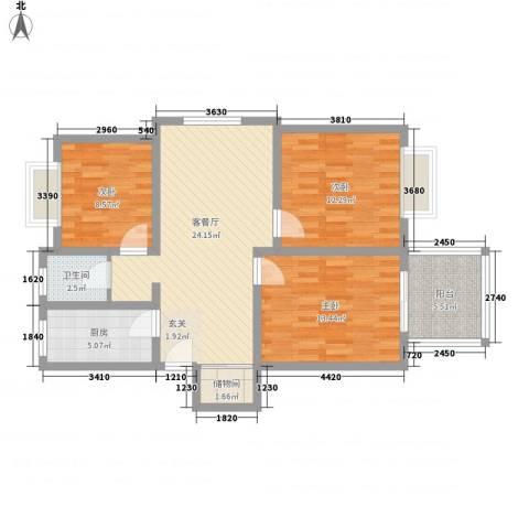江南春晓3室1厅1卫1厨106.00㎡户型图
