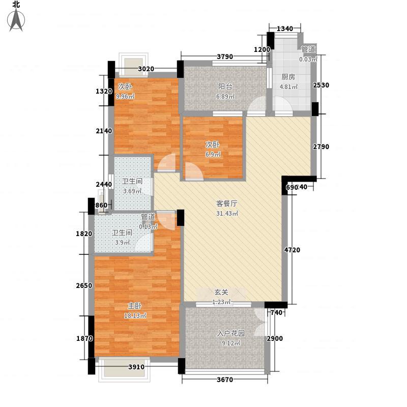 卢浮公馆116.84㎡雅致户型3室2厅2卫1厨