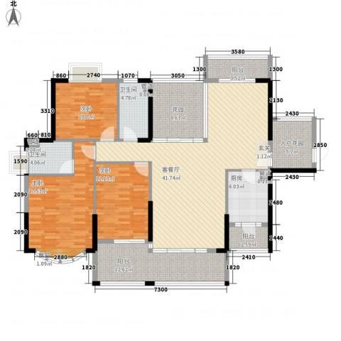 日升昌阳光御园3室1厅2卫1厨153.00㎡户型图