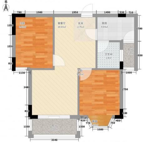 念四东苑2室1厅1卫1厨72.00㎡户型图