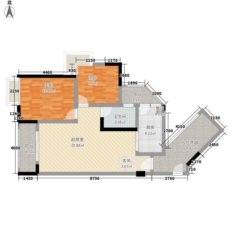 奥林匹克花园七期紫枫郡户型3室