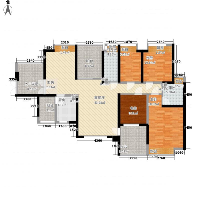 幸福海岸二期154.10㎡幸福海岸户型图8栋AB座偶A4室2厅2卫户型4室2厅2卫