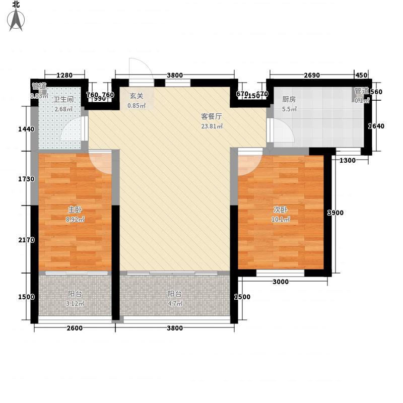 山海苑3.00㎡G户型2室2厅1卫