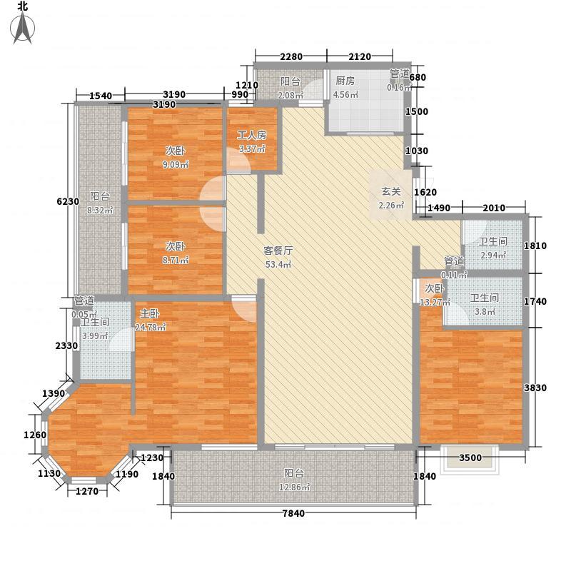 融城・昆明湖2.00㎡V2户型5室2厅3卫1厨