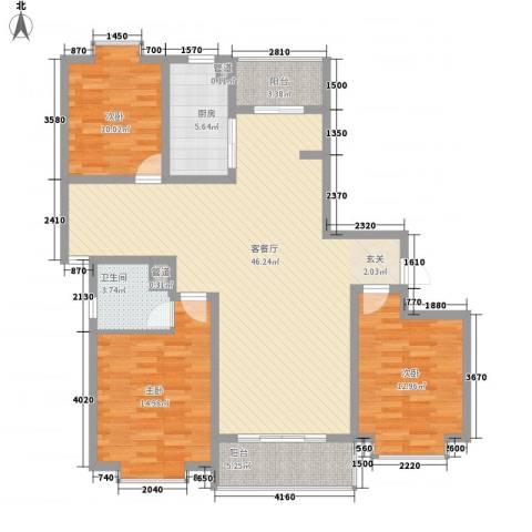 御水豪庭3室1厅1卫1厨145.00㎡户型图