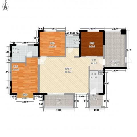 奥林匹克花园红城3室1厅2卫1厨153.00㎡户型图