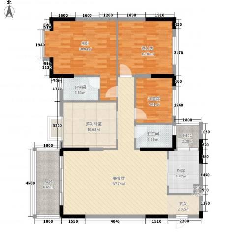 景致尚寓3室1厅2卫1厨152.00㎡户型图