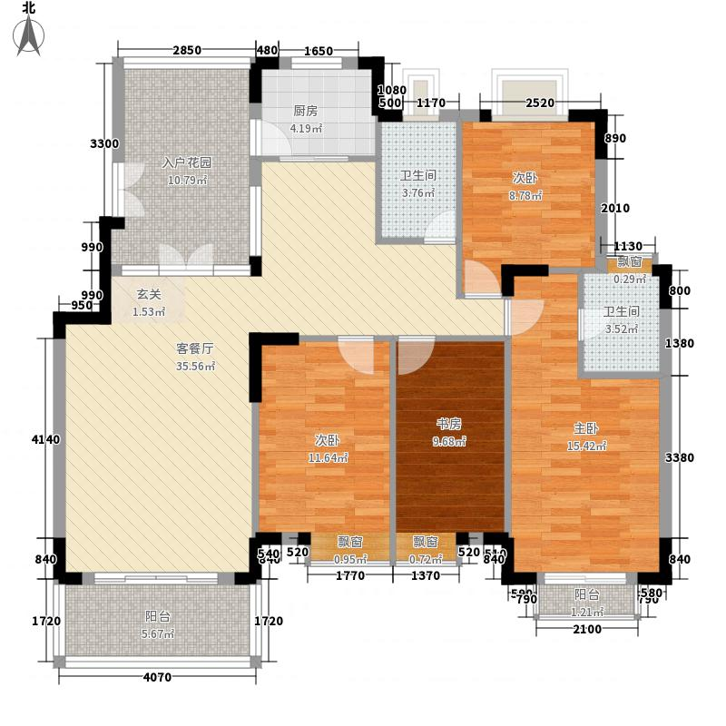 奥林华府155.00㎡户型4室