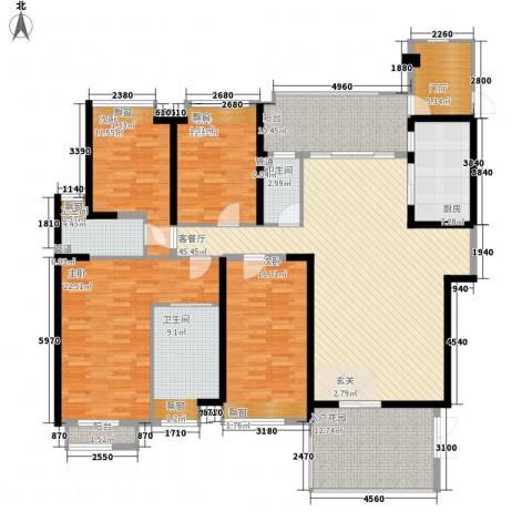 怡翠宏�4室1厅3卫1厨210.00㎡户型图