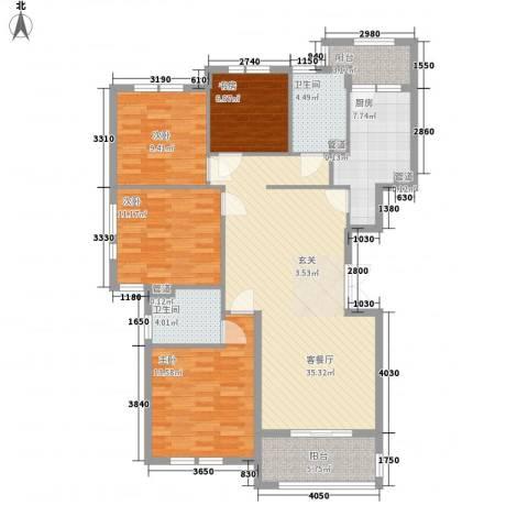 宝诚星海湾4室1厅2卫1厨144.00㎡户型图