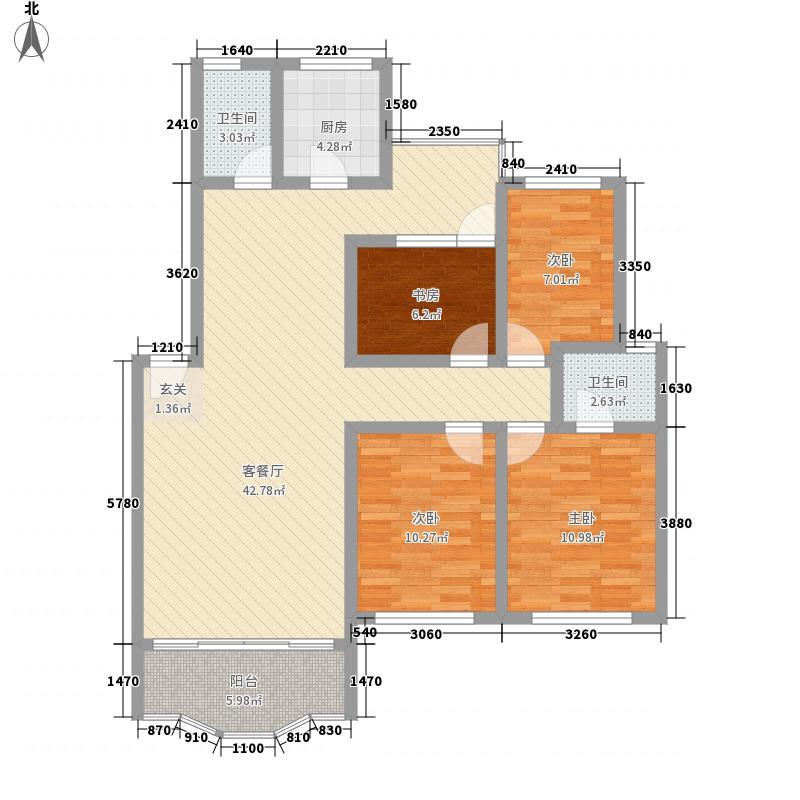 盘江花园134.86㎡盘江花园户型图4室2厅2卫1厨户型10室