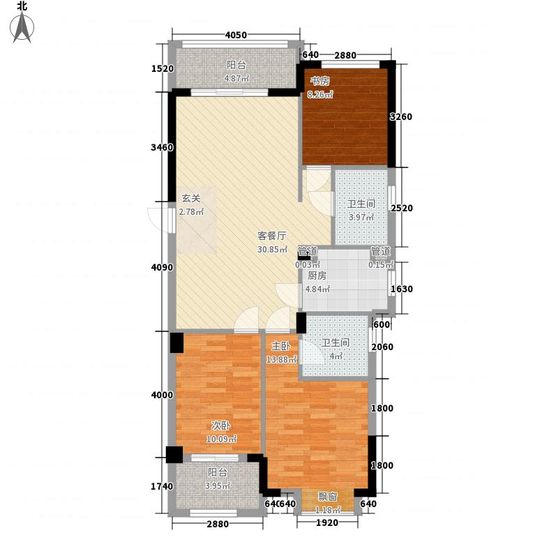 银亿上郡C户型3室2厅2卫1厨