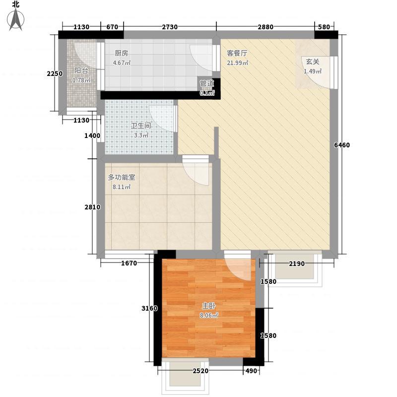 大雅云居山一期4号楼标准层5/10号房户型