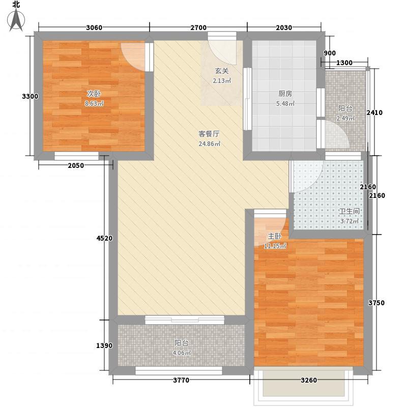 天一仁和・豪庭88.00㎡高层G4户型2室2厅1卫1厨