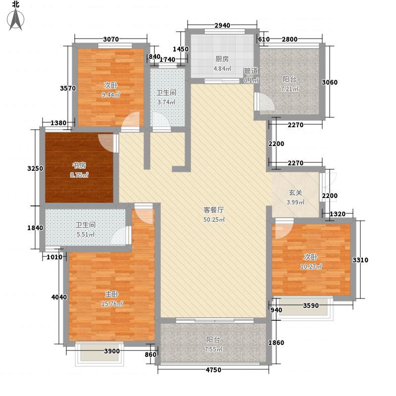郑西联盟新城178.00㎡洋房C5户型4室2厅2卫1厨