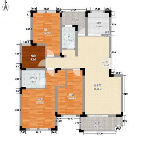 益明苑4室1厅2卫1厨159.00㎡户型图
