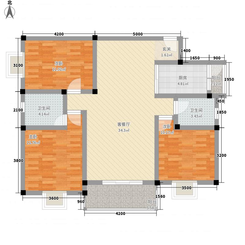 水岸鑫城二期户型3室