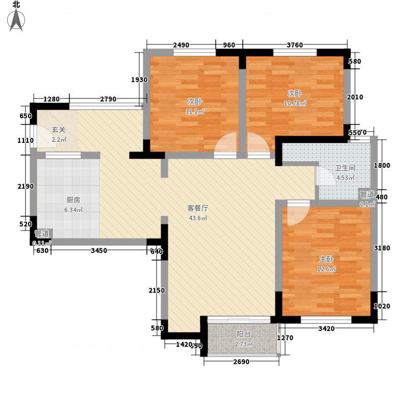同德花园3室1厅1卫0厨122.00㎡户型图