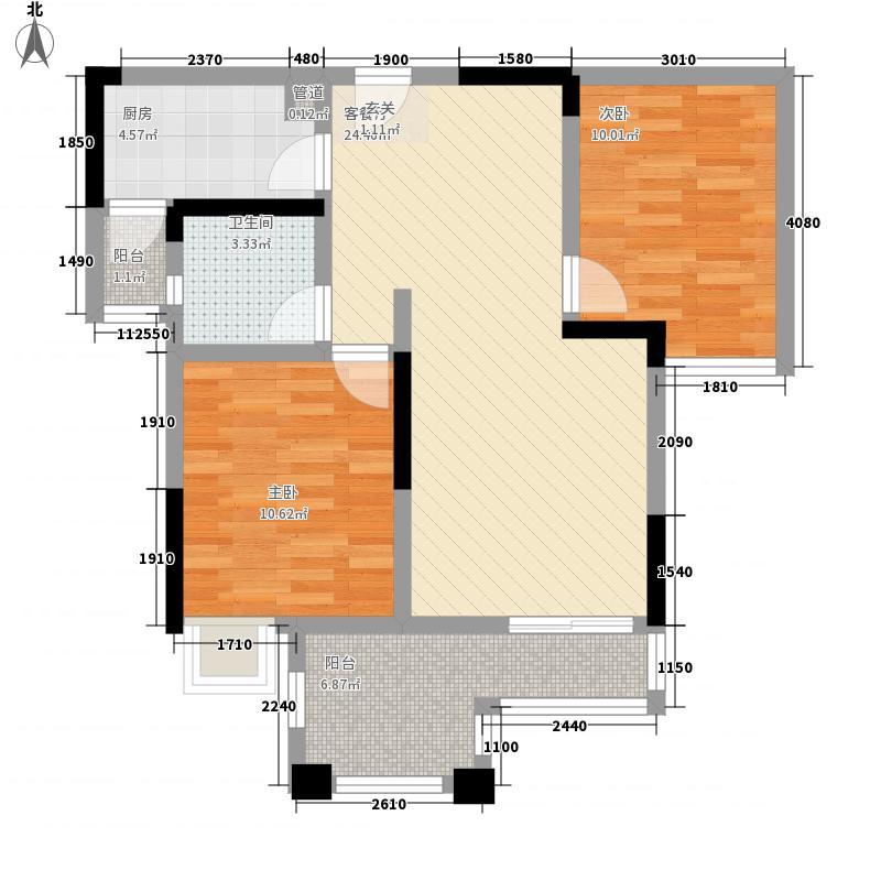 大雅云居山一期4号楼标准层7/8号房户型