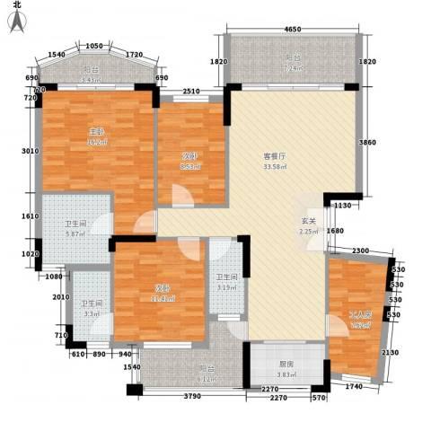 纯水岸花园3室1厅3卫1厨146.00㎡户型图