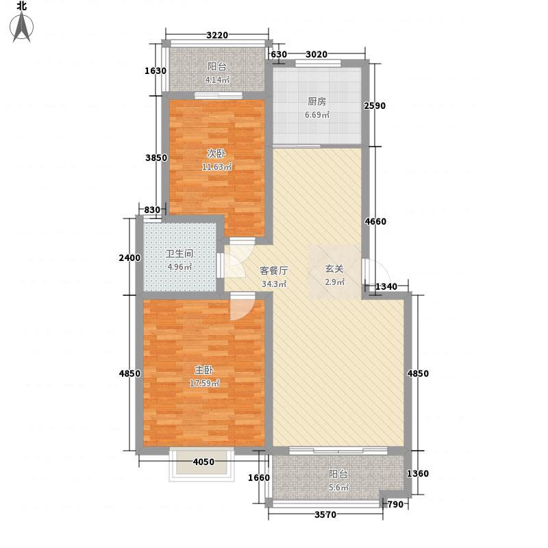 金贵家园122.00㎡金贵家园2室户型2室