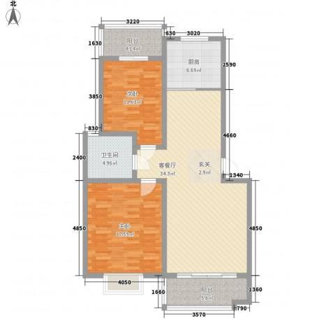 金贵家园2室1厅1卫1厨122.00㎡户型图