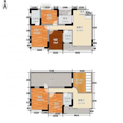 盈彩美地5室2厅3卫1厨175.00㎡户型图