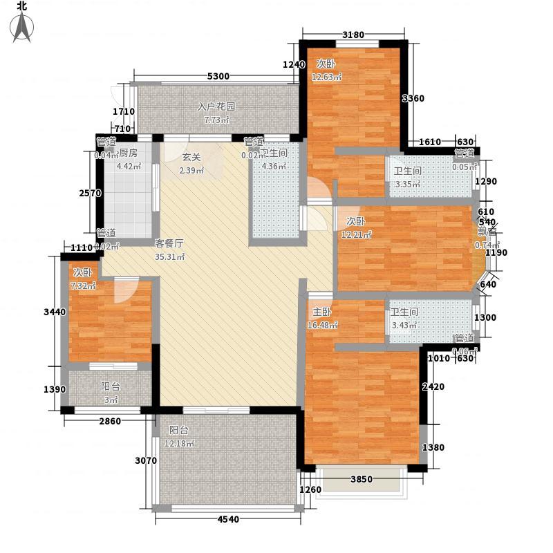 郑州国瑞城177.32㎡二期E2户型4室2厅3卫1厨