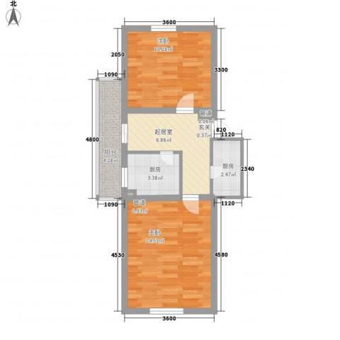 奇尔斯公馆2室0厅0卫2厨61.00㎡户型图