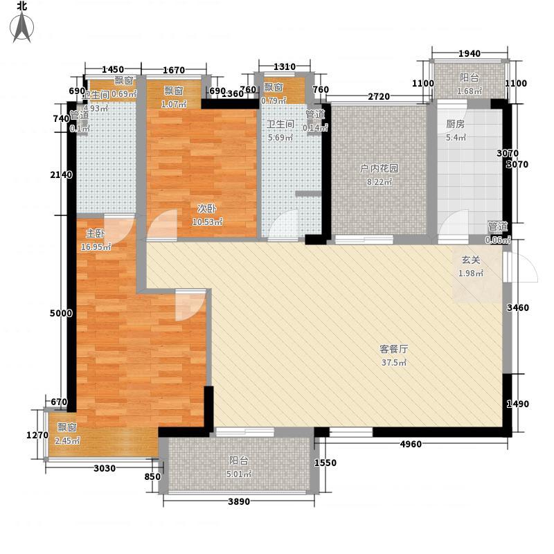 远大城市广场12.00㎡户型3室2厅2卫1厨
