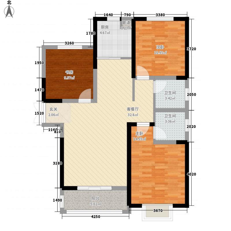 郑上品121.40㎡A2户型3室2厅2卫1厨