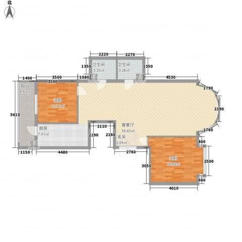 凯旋城2室1厅2卫0厨135.00㎡户型图