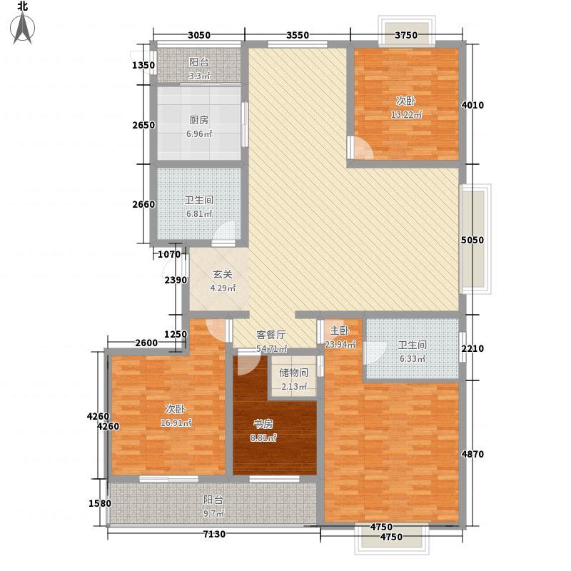 并州南路小区215.14㎡1#B户型3室2厅2卫1厨