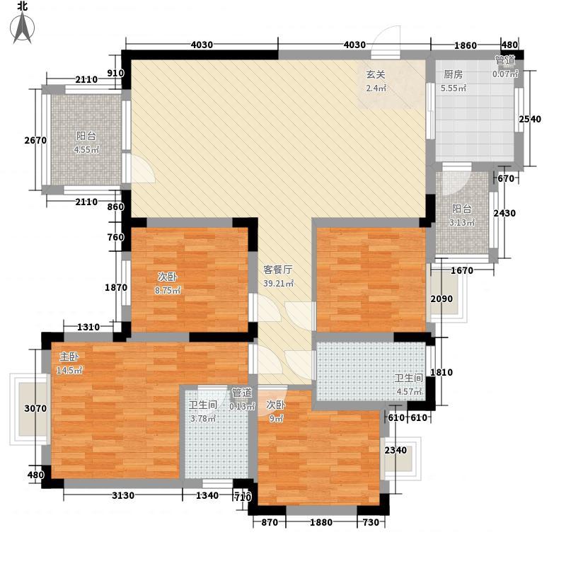 金道城12.73㎡26#B户型4室2厅2卫1厨