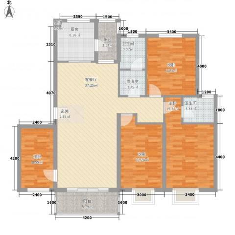 花前树下二期4室1厅2卫1厨139.00㎡户型图