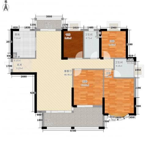 日升昌阳光御园4室1厅2卫1厨115.33㎡户型图
