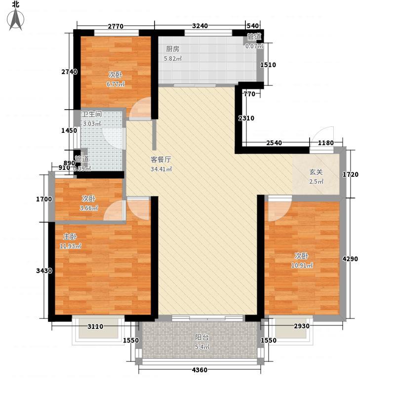 红山万和城3.00㎡户型3室