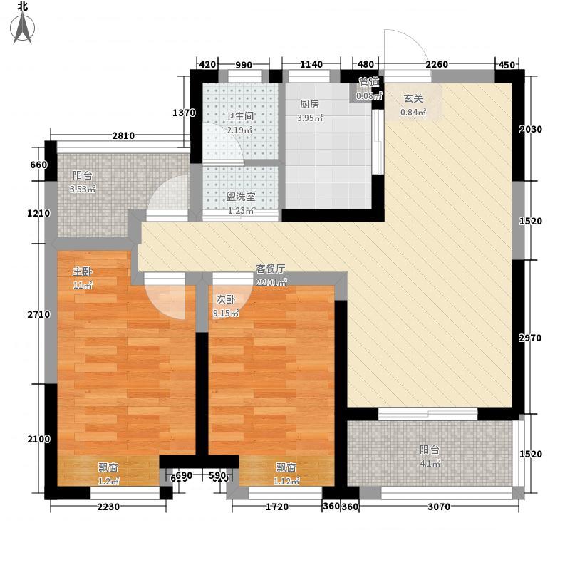 中环云公馆项目85.00㎡户型3室2厅1卫1厨