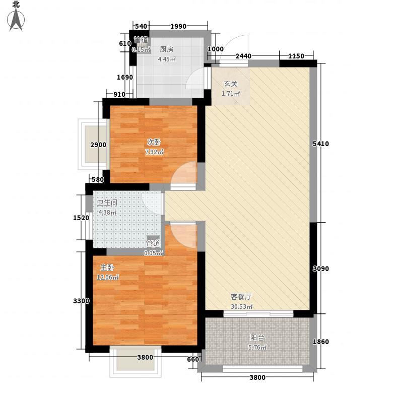 龙记观澜国际住宅1#E户型