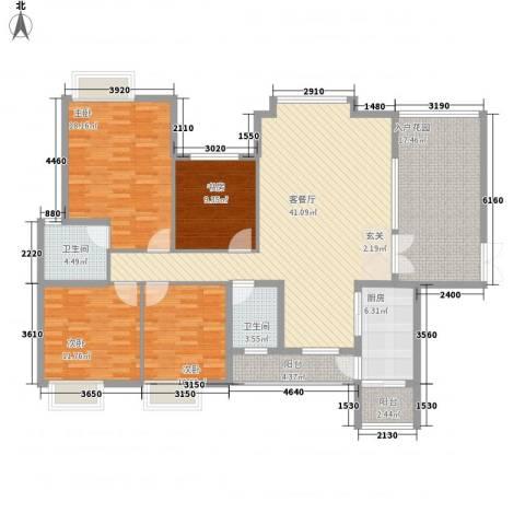 缙能花园4室1厅2卫1厨182.00㎡户型图