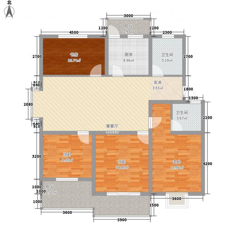 水岸鑫城二期户型3室1厅1卫1厨