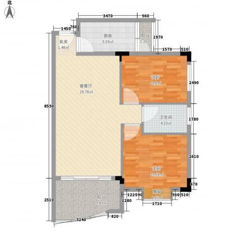 富豪新村2室1厅1卫1厨102.00㎡户型图