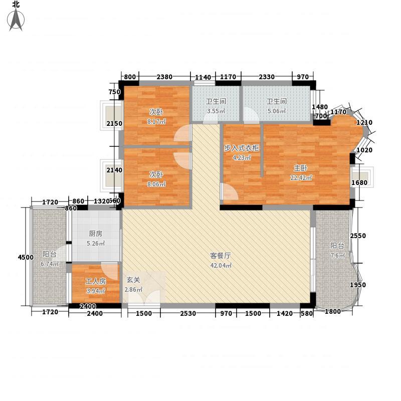 加州阳光123.10㎡加州阳光4室2厅户型4室2厅